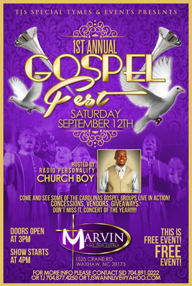 TJS Special Tymes & Events 1st Gospel Fest