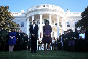 President Obama And First Lady Observe Moment Of Silence In Remembrance Of 9/11 Attacks