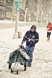 Mailman in NYC snowstorm