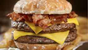 Glazed Donut Bacon Cheeseburger