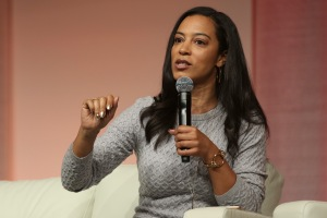 Angela Rye speaks at The Womens Convention at Cobo Center...