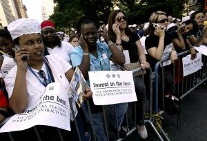 New Yorkers Rally For Contracts And Better Pay